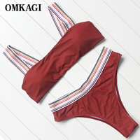 OMKAGI Brand High Quality Swimsuit Women Swimwear Sexy Push Up Bikinis Set Swimming Bathing Suit Beachwear