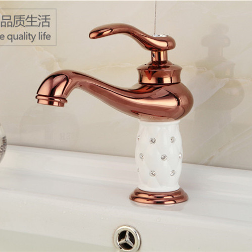Free shipping Rose golden bathroom basin sink water faucet with solid brass bronze bathroom basin sink mixer tapFree shipping Rose golden bathroom basin sink water faucet with solid brass bronze bathroom basin sink mixer tap