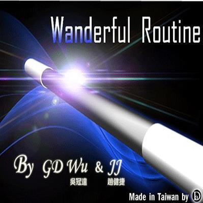 Livraison Gratuite! Wanderful Routine de GD Wu & jj-tours de magie, carte, gros plan magique, 2014 nouveau, accessoires de magie