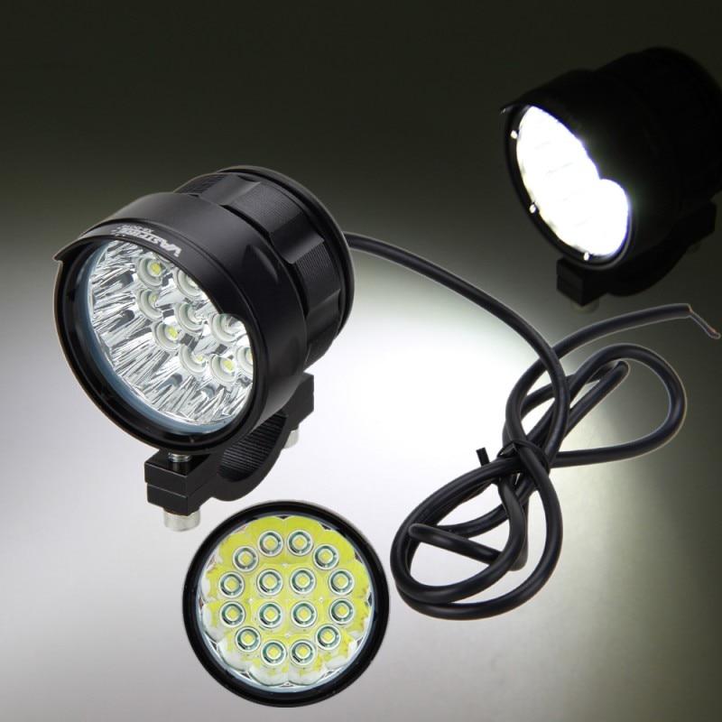 Motorcycle 80W 8x XM-L T6 LED Work Driving Headlight Fog Lamp Spot Light 4V-84V