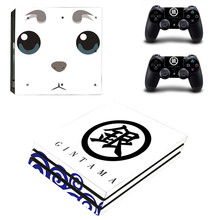 Cool Gintama Anime PS4 Pro Skin Sticker For Sony Playstation 4 Promotion Console & 2Pcs Controller Protection Film Stickers