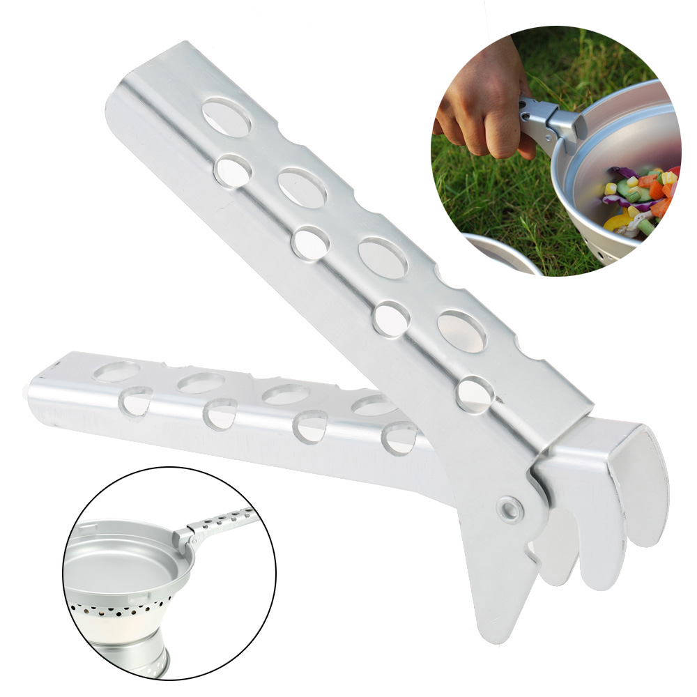 TOMSHOO Camping Cookware Pot Pan Bowl Gripper Handle Clip Anti-hot Anti-scraping Aluminum Handle Clip For Picnic Outdoor Tool