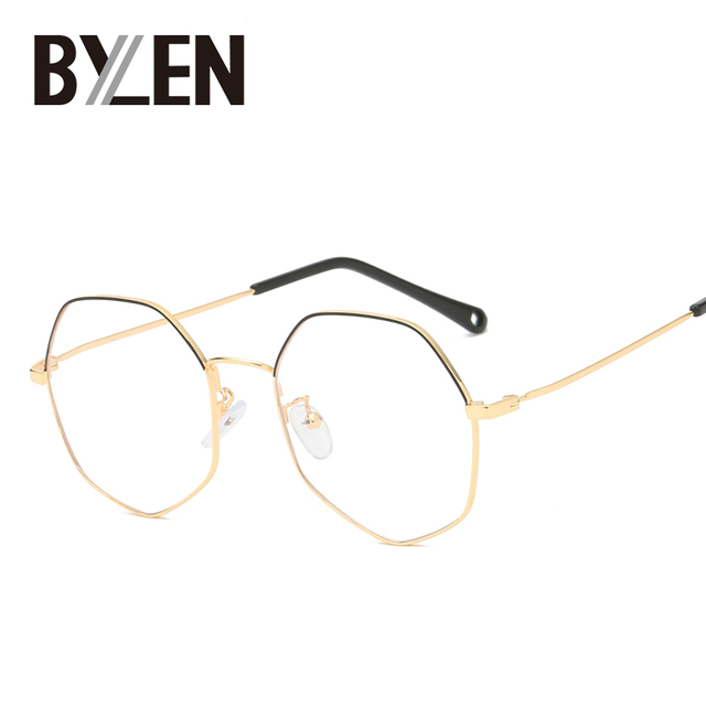 Pilot Glasses Frame Women Vintage Metal Eyewear Frames Optical Myopic Eyeglasses  Frame Blue Light Blocking Lenses Prescription c122c0901e7