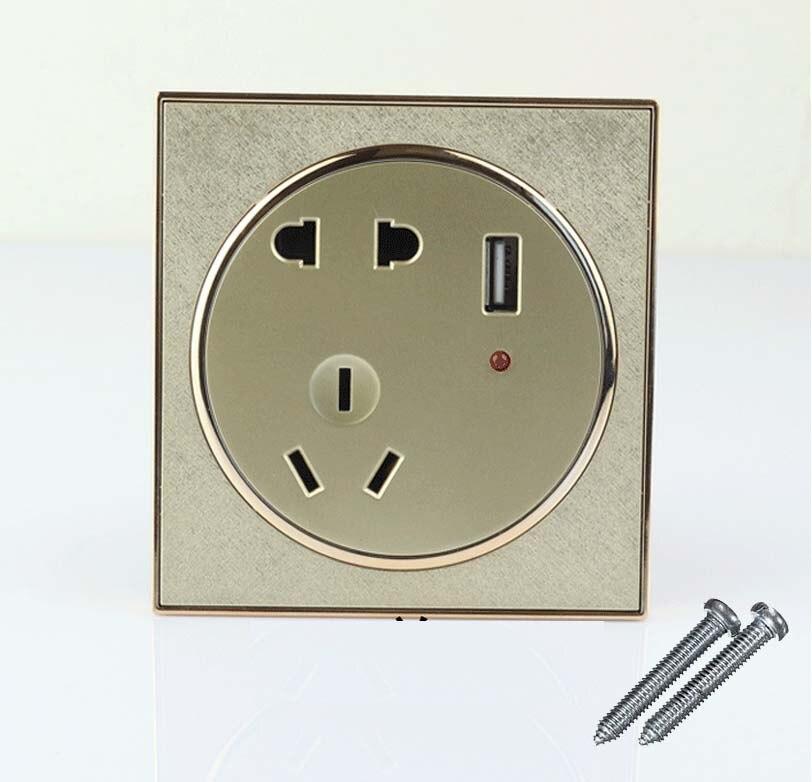 10pcs USB Port Wall Socket Charger Power Receptacle Outlet Plate Panel AU EU US