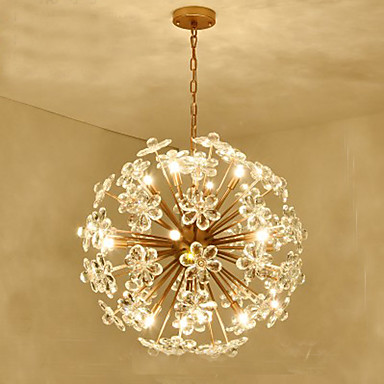 Us 321 54 Off Golden Dandelion Metal Designer Decoration Stainless Steel Ball Craft Chandelier Led Light Fixture Lamps Iron Lighting For Home In