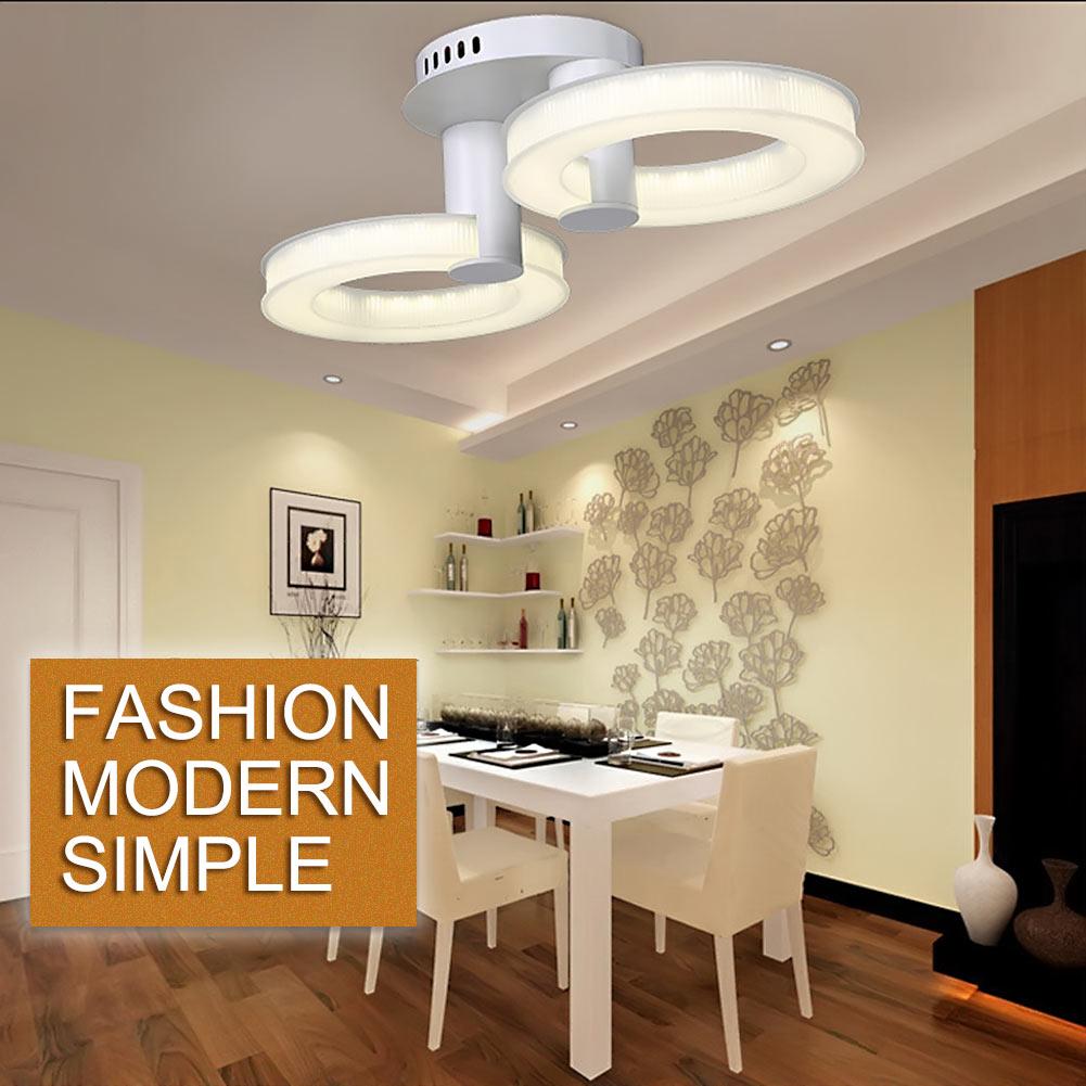 ФОТО 2/3 Heads Modern SMD LED Acrylic Ceiling Lamp Bedroom Dining Room Hanging Light Pendant Lamp Home Decoration 110V-240V