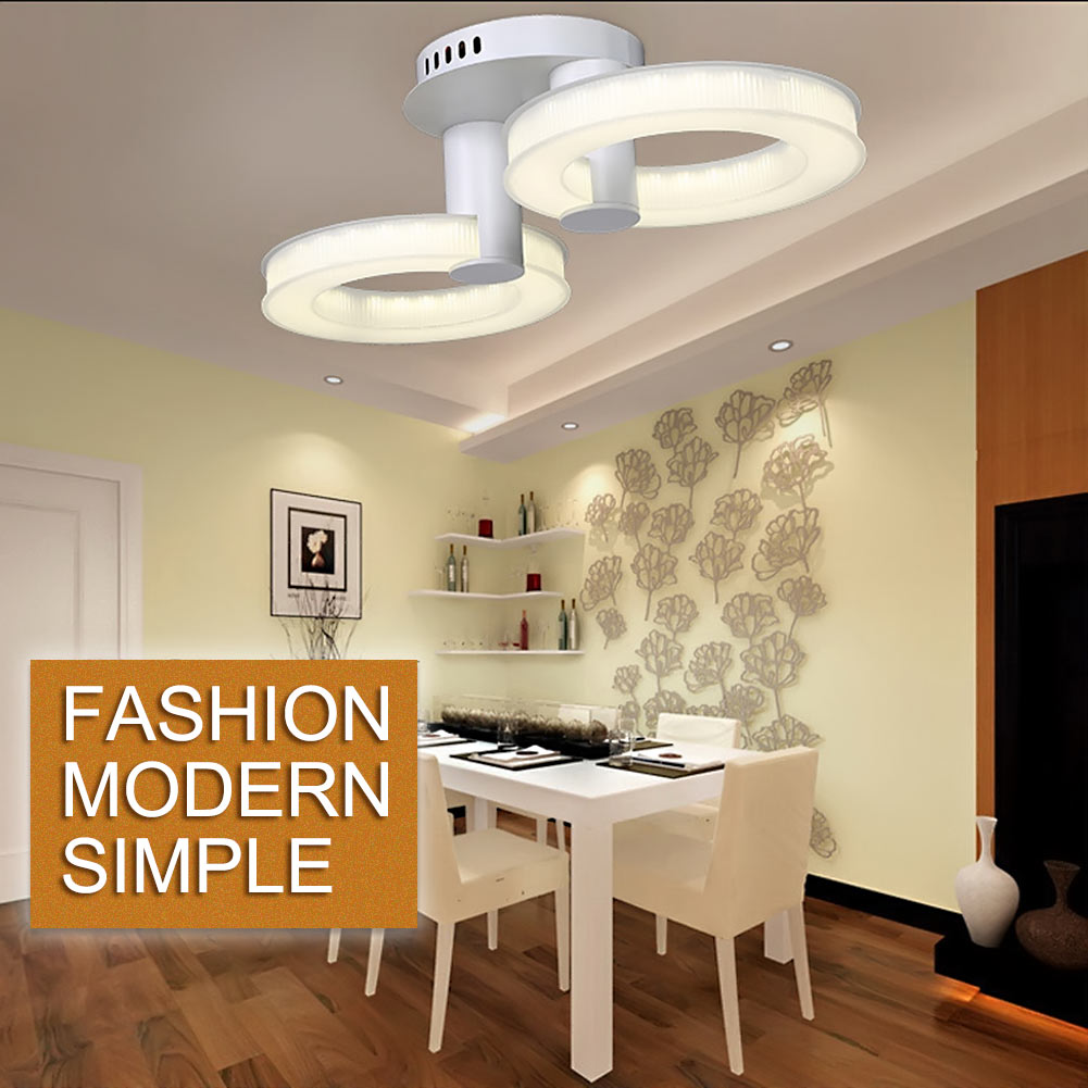 Bedroom hanging ceiling lights - 2 3 Heads Modern Smd Led Acrylic Ceiling Lamp Bedroom Dining Room Hanging Light Pendant