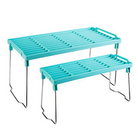 Foldable Bathroom Cosmetic Shelf PP Plastic Kitchenware Storage Shelf Shoe Organ Organizer Kitchen Accessories