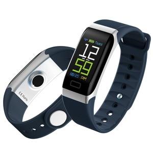Image 5 - L8STAR R7 חכם צמיד להקת יד שעון גשש כושר קצב לב בריאות צג USB טעינה דם לחץ IP67 צעדים