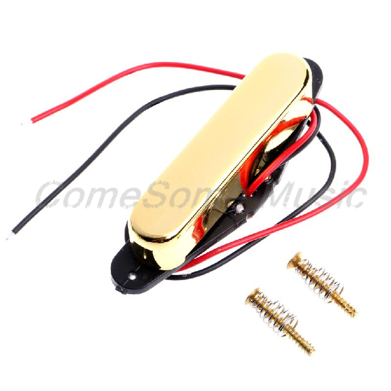 Professional Gold Guitar Parts Single Coil Tele Neck Pickup New 2pcs chrome guitar pickup lipstick tube pickup single coil