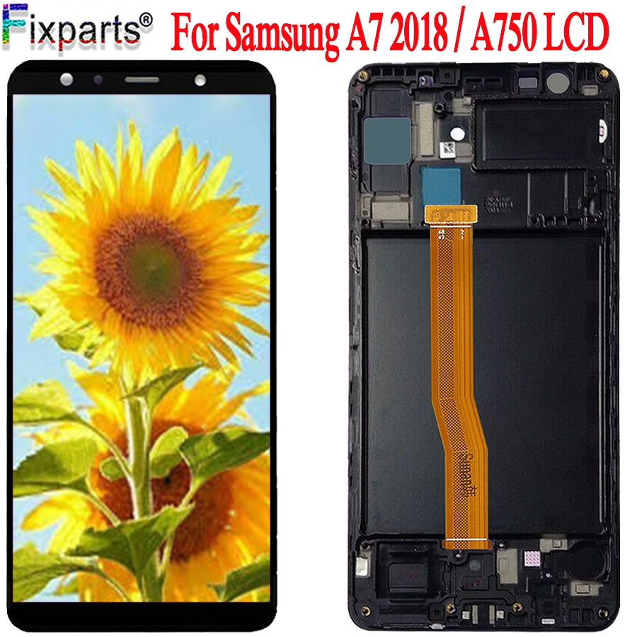 100% Tested For <font><b>Samsung</b></font> Galaxy A7 2018 SM-A750F <font><b>A750</b></font> <font><b>LCD</b></font> Display Touch Screen Digitizer Assembly Amoled For <font><b>Samsung</b></font> <font><b>A750</b></font> <font><b>LCD</b></font> image
