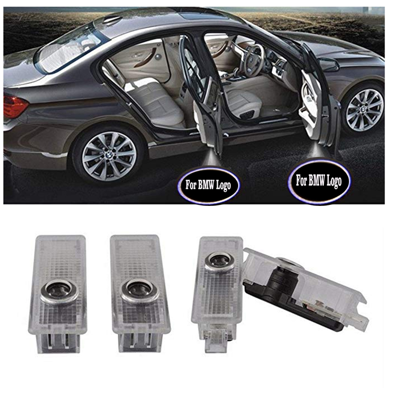 4X Easy Installation Car Door Welcome Light 12V LED Logo Projector Ghost Shadow Lights For BMW X1 X3 E63 GT (suitable For BMW