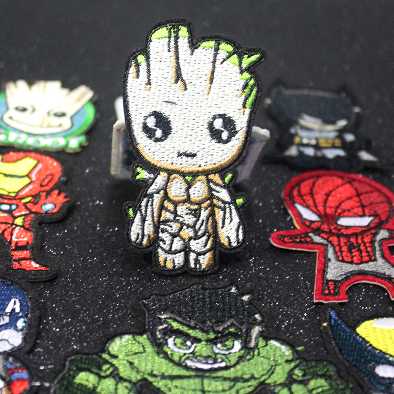 Pulaqi The Avengers Patch On Clothes Embroidered Patches For Clothing Groot Iron Custom AppliqueIron F