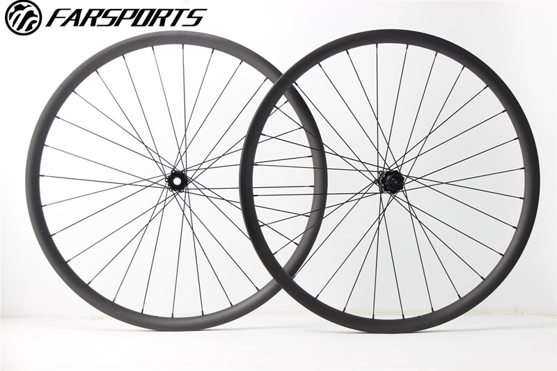 Superlight asymmetry MTB wheelsets 28mm wide 28mm deep 29er full carbon clincher with DT350 central-locking disc hub, thru axle цена
