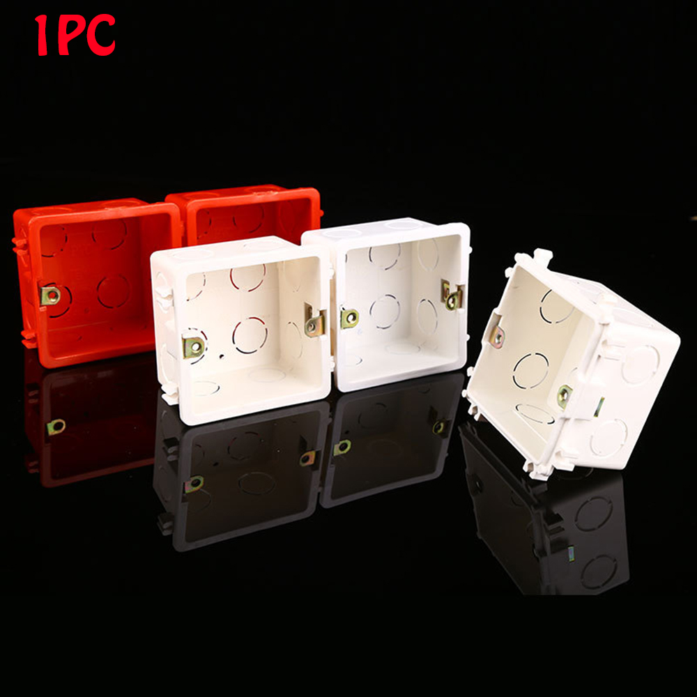 Wall Mounting Box Standard Light Touch Switch Cassette Junction Box Flame Retardant Wiring Back Box Wall Switch Concealed Bottom