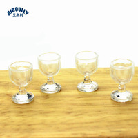 40pcs/lot 1:12 Dollhouse Miniature Kitchen wine glass Bar Furniture Accessories Doll House Toys for Children 1