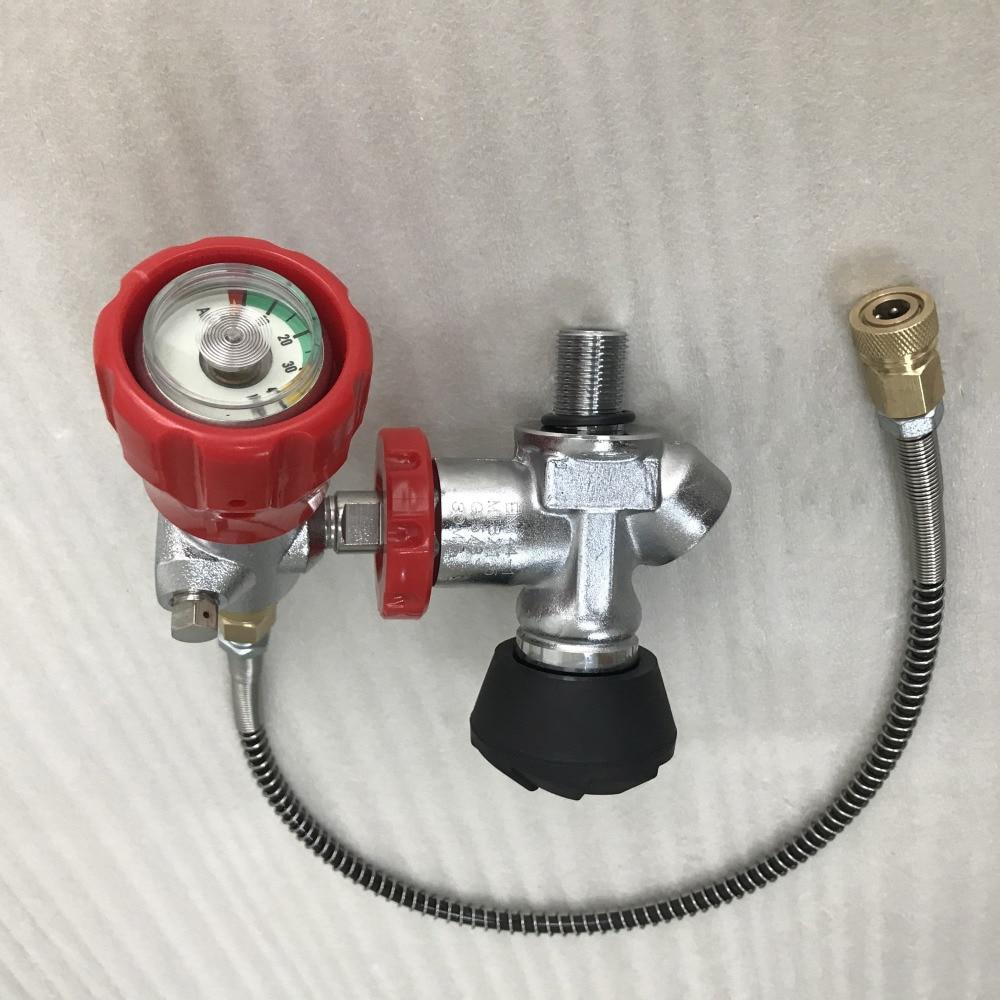 Винтовку PCP композитных Пейнтбол бак воздуха Заправка комплект 4500Psi л. с. клапана + заправочная станция с шлангом