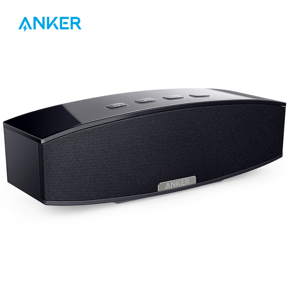 Anker 20W Premium Stereo Portable Bluetooth Speaker with Dual 10W Drivers Two Passive Subwoofers Wireless Speaker