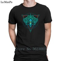 Custom Super T Shirt Lotus The Flower Of Life In Triangle Men S T Shirt Fun