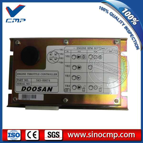 US $315 0 |SINOCMP Engine throttle controller 543 00074, accelerator  control panel for Daewoo Doosan DH225 7 excavator, 1 year warranty-in A/C