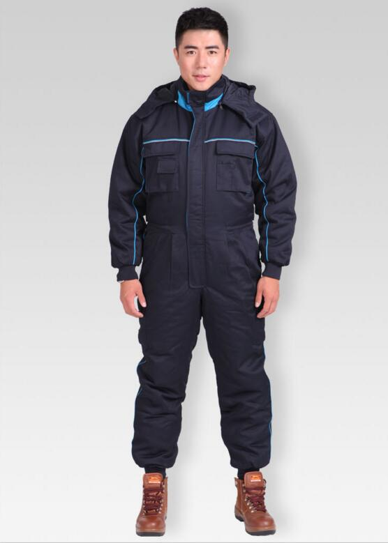 Wholesales Winter Warm Cotton Jacket Jumpsuit Safety Mens Workwear Working Clothes Big Size Suit Sets Men Coveralls