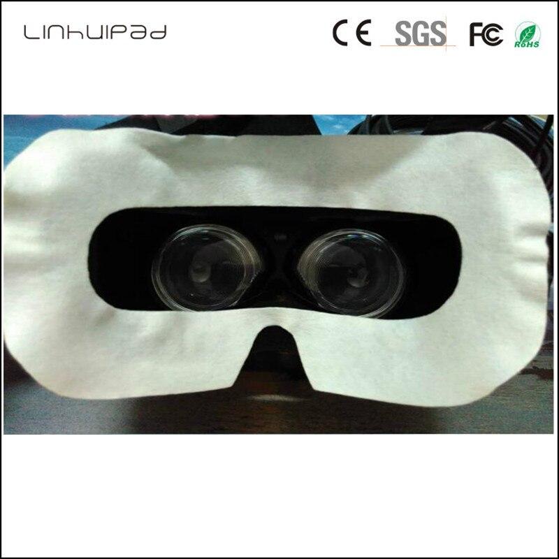 Linhuipad de 3D VR máscara de ojo de vidrio sanitario oídos correas de higiene desechable máscara 100 unids/lote