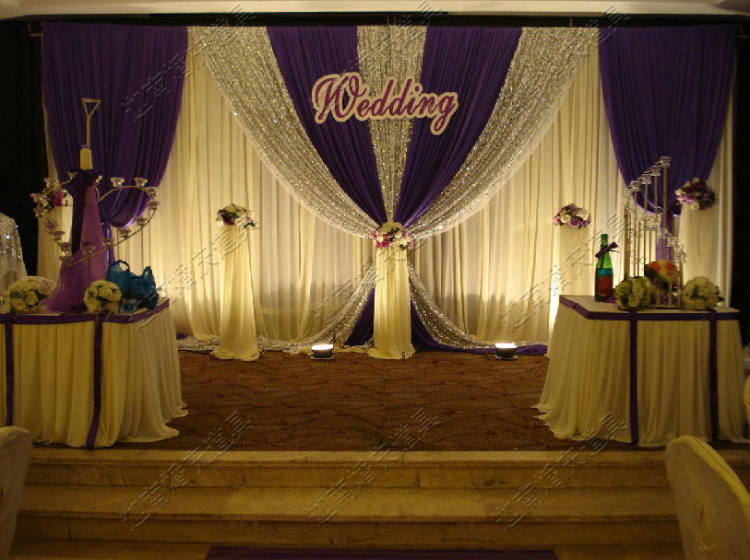 Buy 3m 6m wedding stage decoration lilac for Background curtain decoration