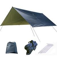 1 Set Outdoor Camping Hiking Waterproof Tent Tarp Sunshade Awning Shelter Cover Picnic Mat Garden Shade Sails