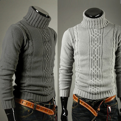2015 Rushed Cardigan Cardigan Men Winter Pullover Yarn Male Sweater Slim Turtleneck Thickening Thermal Men's Clothing Outerwear