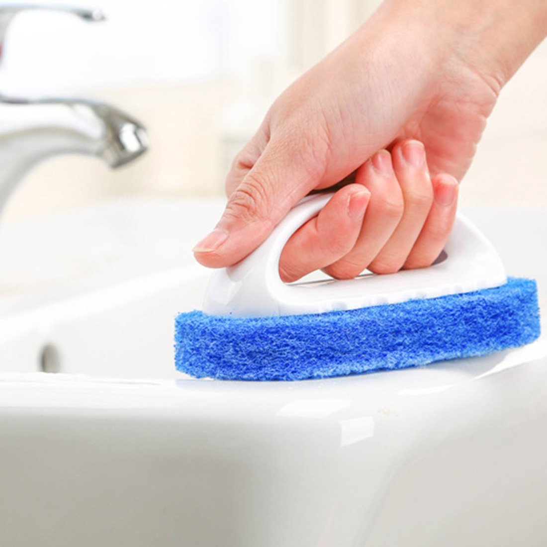 Useful Household Supplies Handle Hard Sponge Cleaning Brush Sanitary Tools Brusher