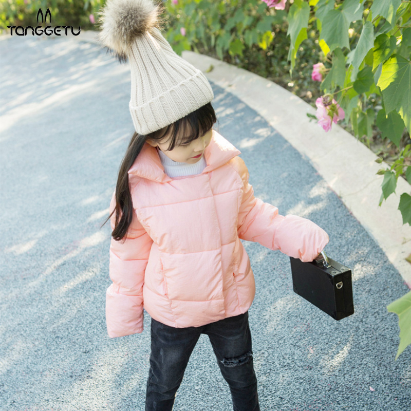 Tanggetu 2018 new Baby girls winter coat jacket children down cotton wear thick cotton - padded clothes to keep warm bread цена