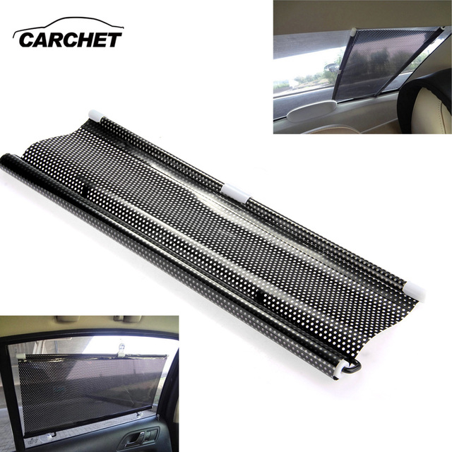 406280a9 CARCHET Car Sun Shade Shield Visor Window Retractable Black 50x125cm  Universal Windshield Sunshades