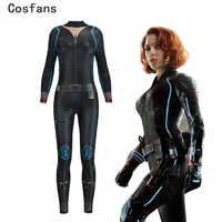 2019 Digital Print Sexy Cosplay Kostüm für Frauen Black Widow Avengers Unendlichkeit Krieg Natalia Alianovna Romanova Bodysuit Overall