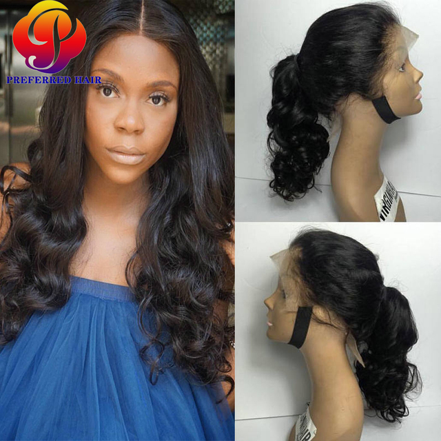 Human Hair Lace Front Ponytail Wigs Hairpieces Full Lace Wig Ponytail Remy  Human Hair Ponytail Lacefront Wig With Full Baby Hai 8f4b6998a6b5