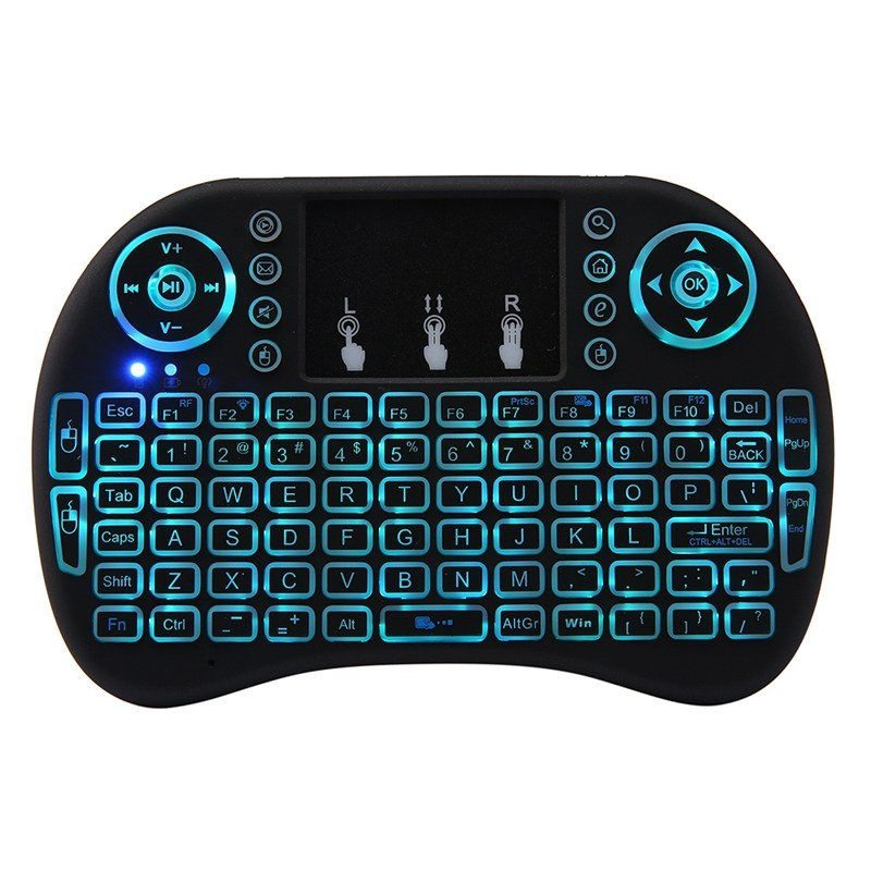 MINI Wireless i8 PLUS Keyboard Backlight Air Mouse Keyboard 2.4GHz Remote Control With Touchpad For TV Box/Smart TV/PC