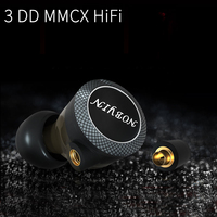 Audiophile HiFi 3 Dynamic Drive Unit In Ear Earphone Detachable MMCX Cable DJ Monitor with microphone earbuds Heavy bass