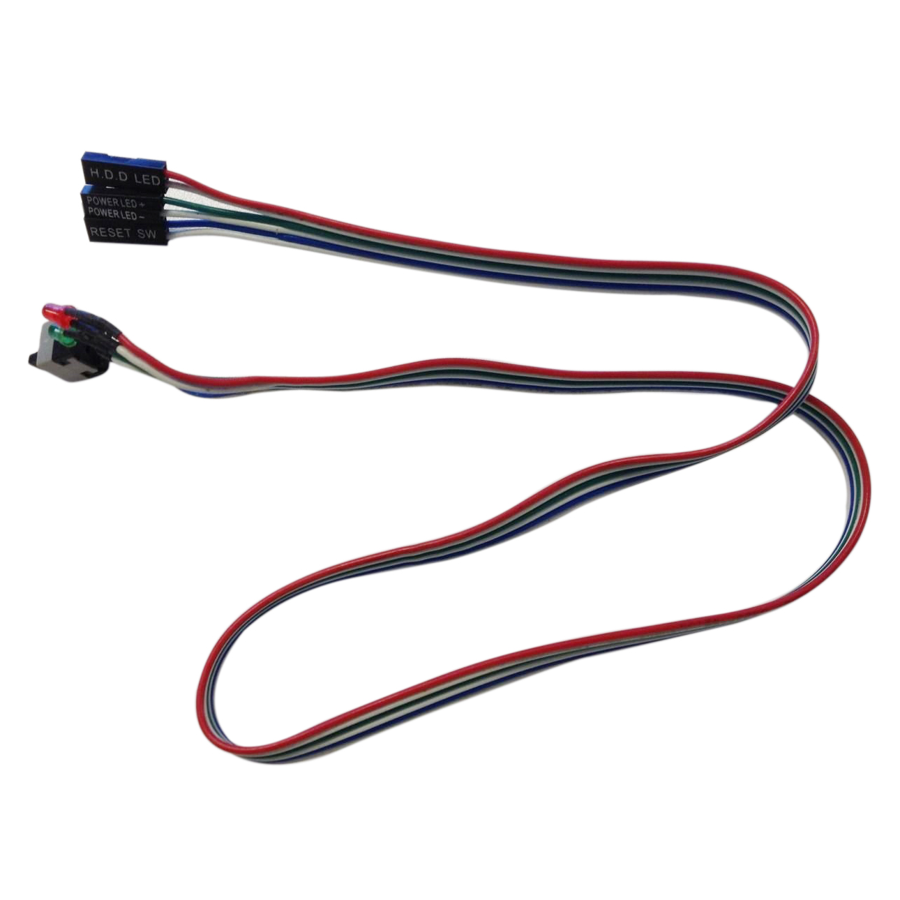 2 Pcs 20.5 Long Power Button Switch Cable for PC Reset Computer