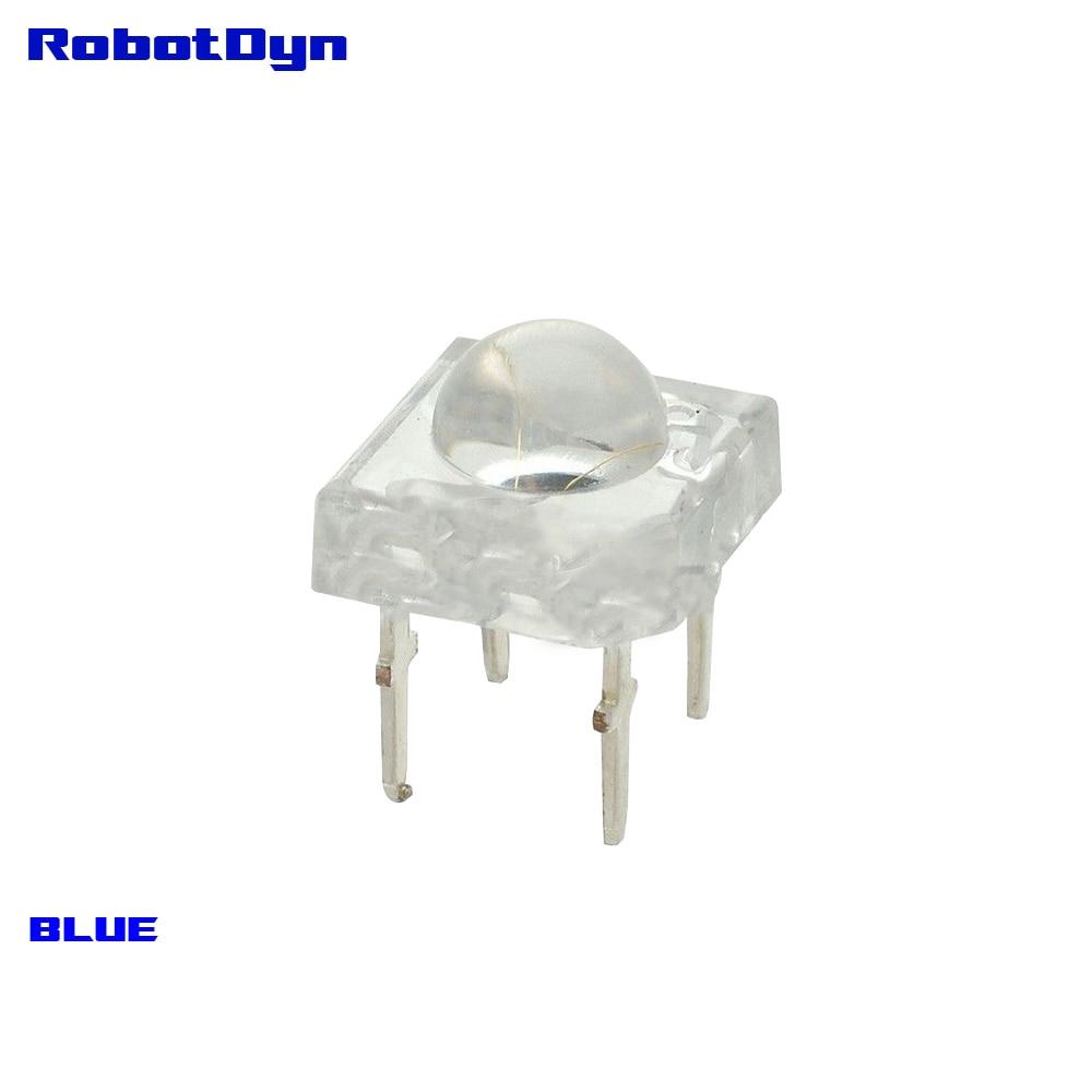 Super-Bright BLUE LED Piranha, crystal shell, DIP (pack 50 pcs)
