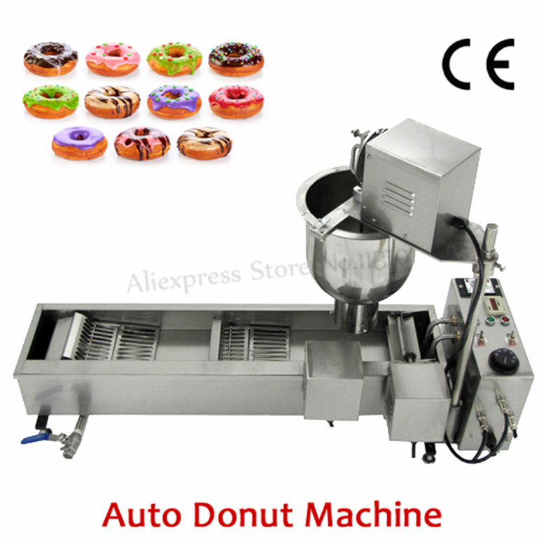 Stainless Steel Commercial Donuts Maker Electric 110V/220V Automatic Donut Machine Doughnut Maker Fryer 3000W 110v 220v non stick commercial electric sweet donut machine 6pcs donut fryer waffle maker commercial cake machine free shipping