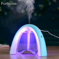 USB LED 400ml Air Humidifier Aroma Essential Oil Creative Message Portable Aromatherapy Diffuser Mist Color Changing