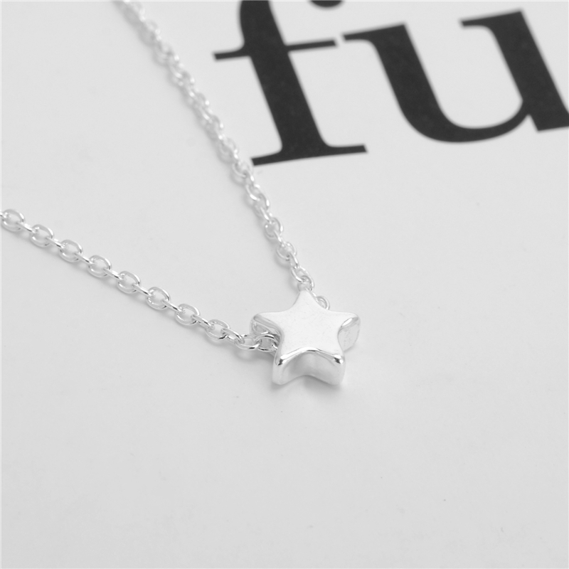 brass plate item gold cmpn necklace minimalist il tiny dainty jewelry women for star everyday simple