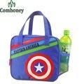 Изоляцией обед мешок капитан америка пикник сумки для женщин сумки привет котенок Doraemon тепловой холодильник для детей закуска