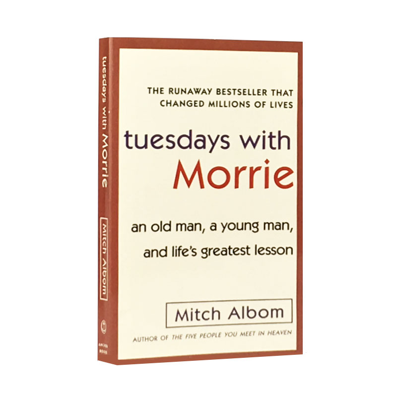 The Tuesdays With Morrie English Version New Hot Selling Fiction Book For Adult Libros