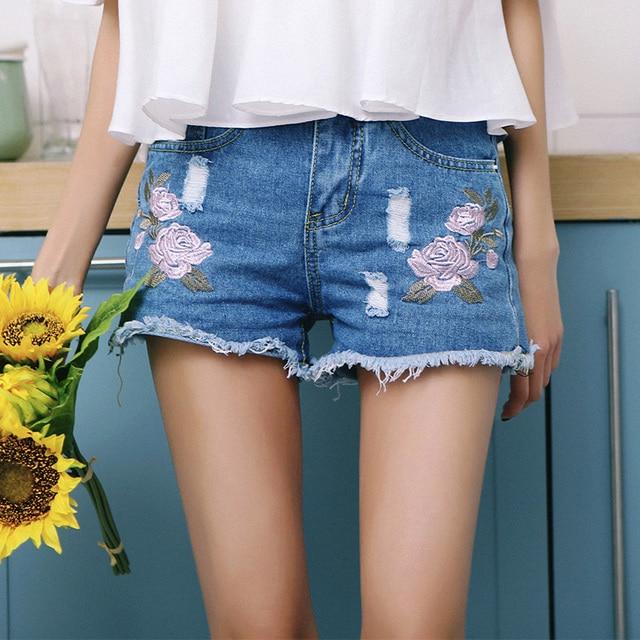 Aliexpress.com : Buy Vetevidi Summer fashion embroidery rose torn ...