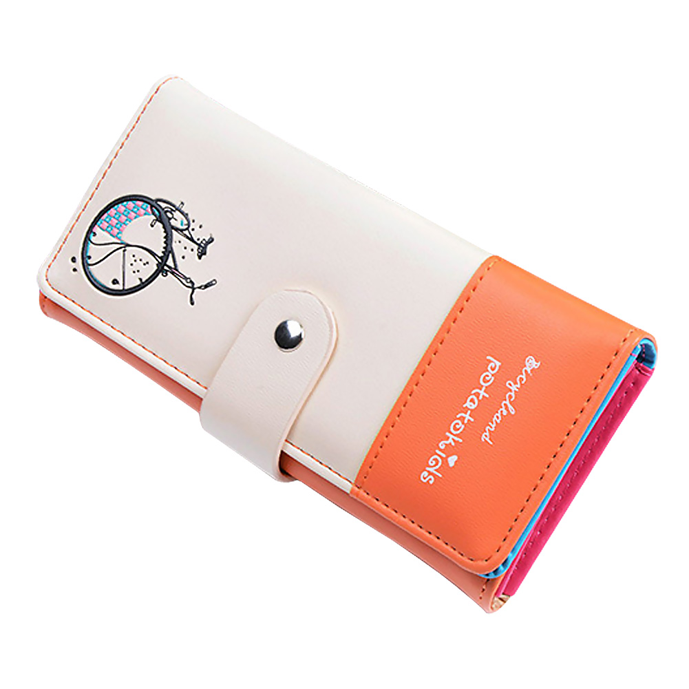 2017 Fashion Design Lady Women Wallet PU Leather Purse Clutch Long Bicycle Pattern Zip Card Holder Top Quality LXX9