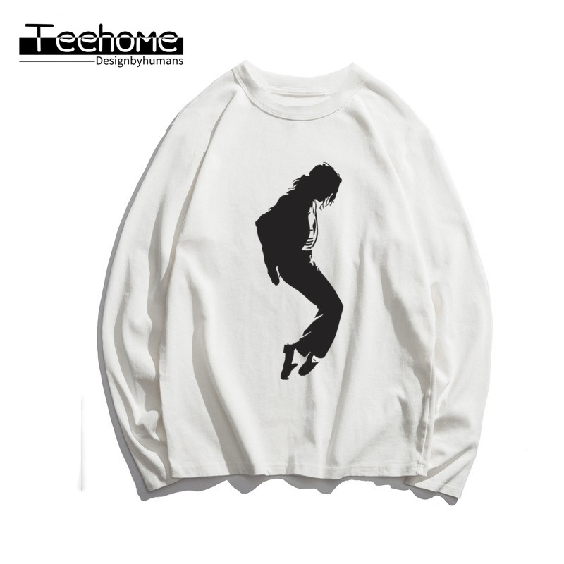 Men's Michael Jackson MJ OLODUM Print Long Sleeve Autumn Men and Women Full Sleeve Harajuku T Shirt Winter Streetwear