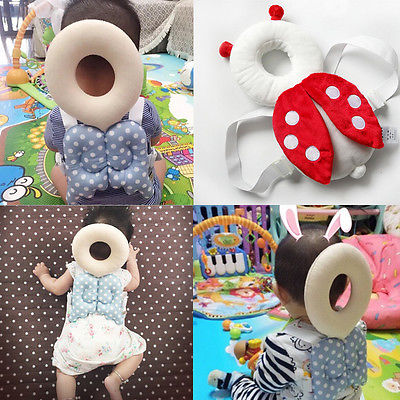 Cute Baby Newborn Head Back Protector Safety Pad Harness Headgear Cartoon Baby Head Protection Pad