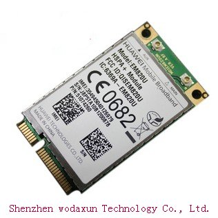 Huawei Em820u 3g Wwan brezžični Pci-e modem Wcdma rob Hspda 21,6m omrežje 2g / 3g Lan kartica 820u model visoke hitrosti