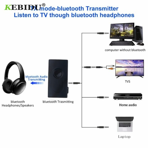 KEBIDU Bluetooth V4.2 Transmitter Receiver Wireless A2DP 3.5mm Adapter Stereo Audio Dongle For TV Car /Home Speakers MP3 MP4 Islamabad