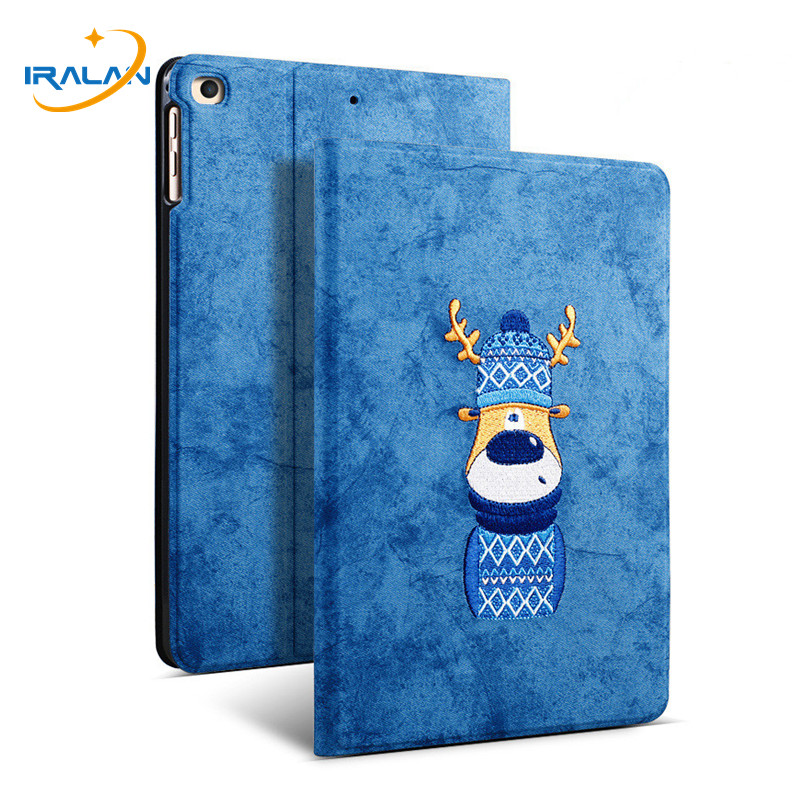 Slim PU Embroidery Pattern <font><b>Leather</b></font> Stand Cover For <font><b>iPad</b></font> <font><b>Mini</b></font> <font><b>5</b></font> <font><b>2019</b></font> Magnetic Smart <font><b>Case</b></font> for Apple <font><b>iPad</b></font> <font><b>Mini</b></font> <font><b>5</b></font> 7.9 inch+Film+Pen image